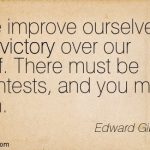 """Victory over our Self,"" ? ""Ourself,"" ?"