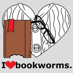 white cable knit bookworm, bite