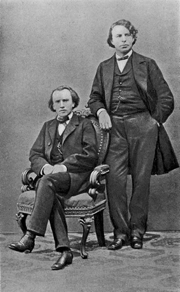 Brahms and Joachim, 1855.