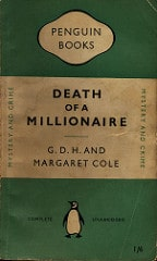 Margaret and GDH Cole Death of a Millionaire