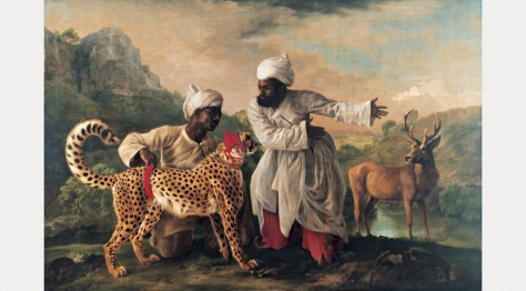 George Stubbs, Cheetah and Stag with Two Indians by George Stubbs, 1764–1765
