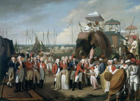 'The Reception of the Mysorean Hostage Princes by Marquis Cornwallis', 1792.
