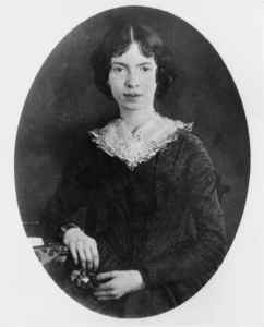 circa 1850: American poet Emily Dickinson (1830 - 1886). (Photo by Three Lions/Getty Images)
