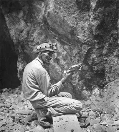 Herculano Montoya of Cienega at the Tiffany Turquoise Mine near Turquoise Post in Cerrillos, New Mexico