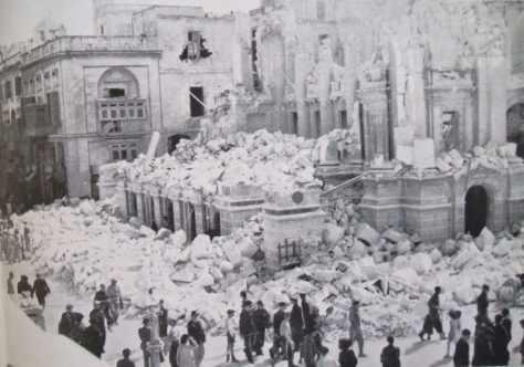 Valletta opera-house-8-april-1942
