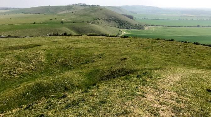 Avebury Walk: Adam's Grave and Knap Hill, Gopher Woods, West Woods, Fyfield Downs