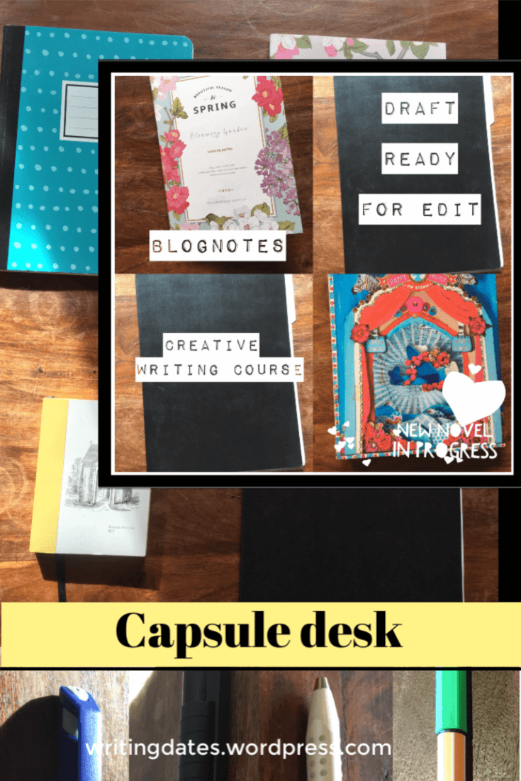 How to use the idea of the capsule wardrobe on your writing tools