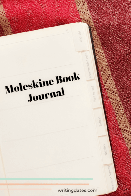 I have several ways of keeping track of the books I read as a writer - one of them is my Moleskine Book Journal