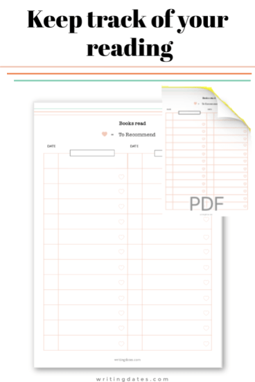 Printable to keep track of the books read
