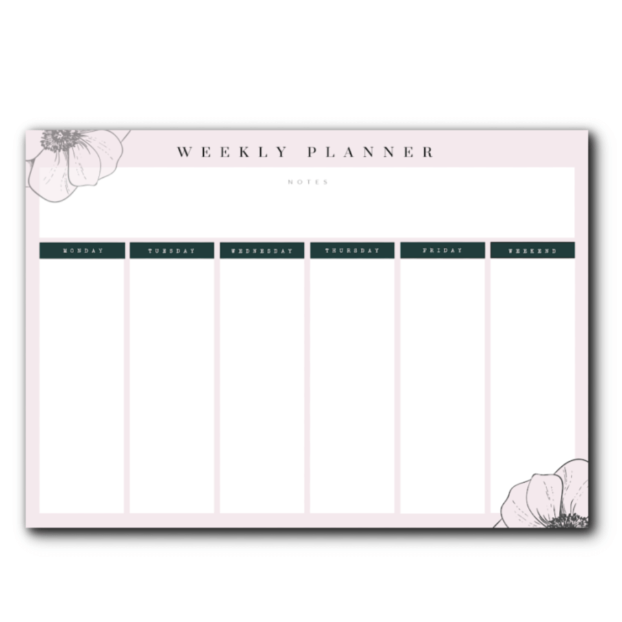 mid year planning and FREE planner pages - weekly planner page