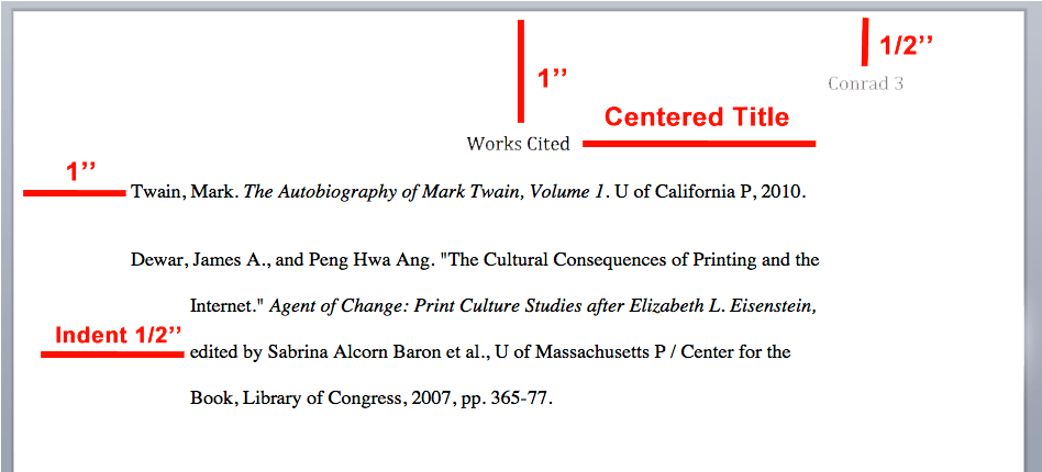work cited for a book