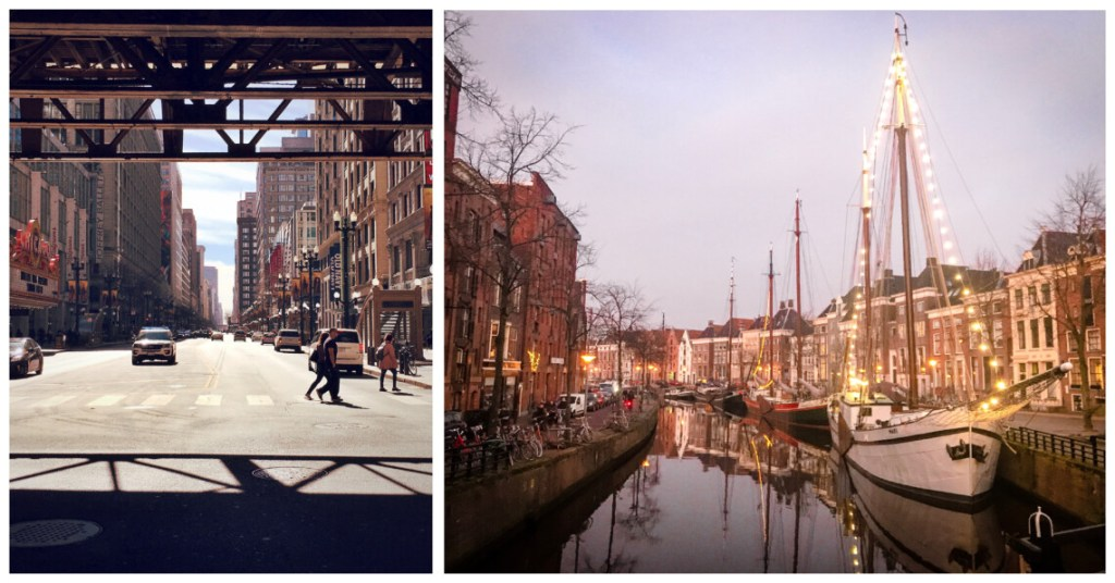Chicago street view compared to Groningen, Netherland street view