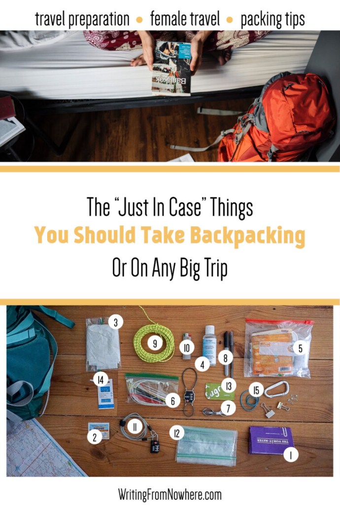 The just in case things you should take traveling_ travel preparedness_ Writing From Nowhere