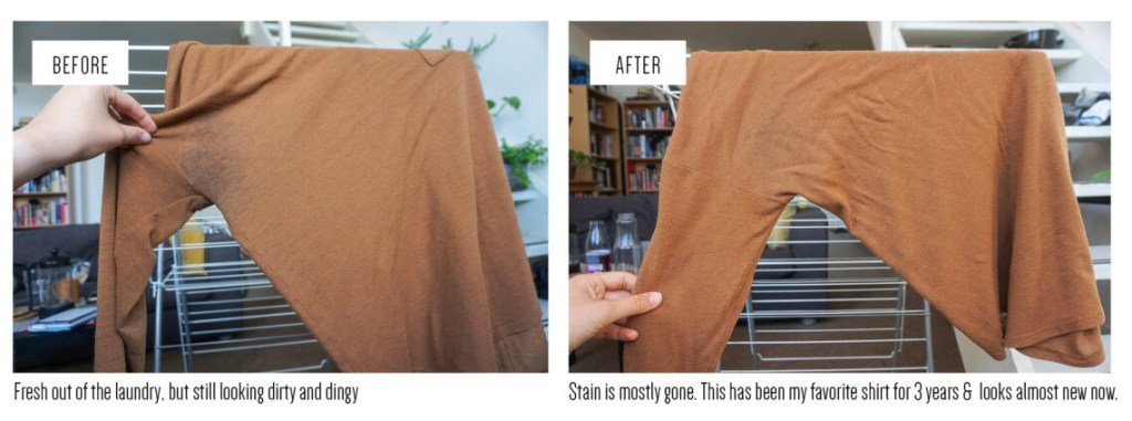 Removing armpit stains from colored clothing_Writing From Nowhere_sustainable living and travel