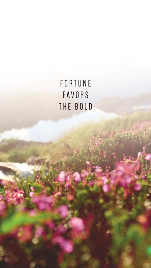FORTUNE FAVORS THE BOLD QUOTE_PHONE WALLPAPERS TO INSPIRE_Writing From Nowhere