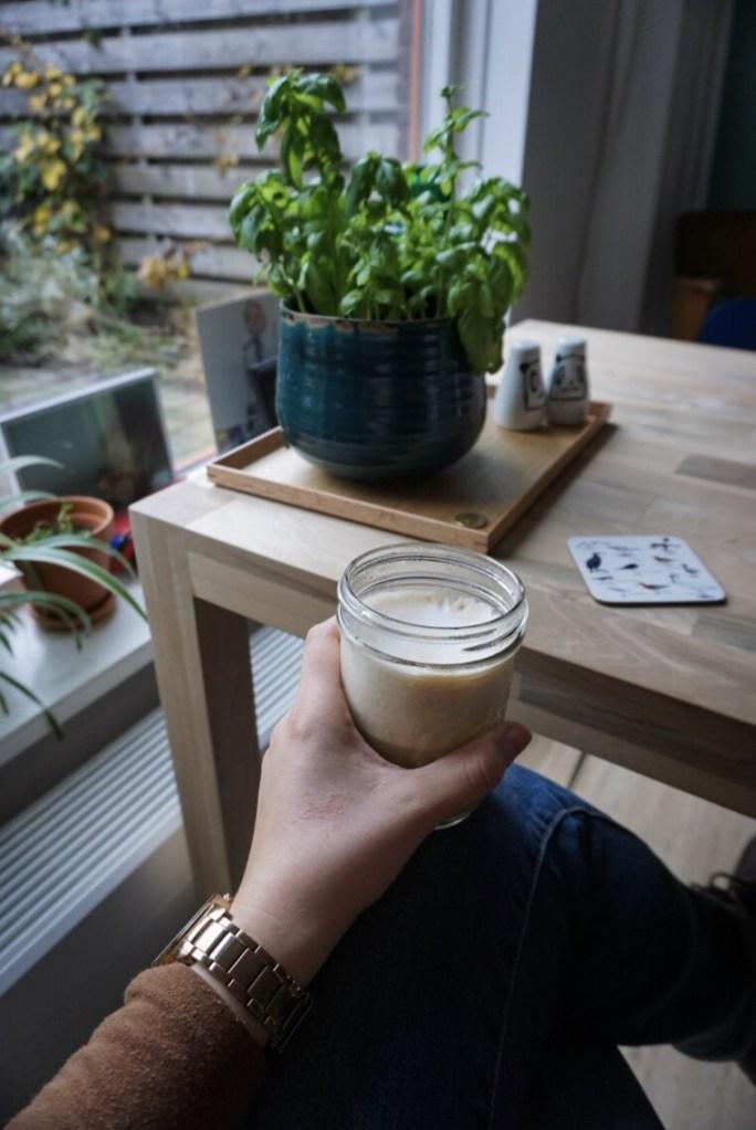Mason jar used as a coffee cup
