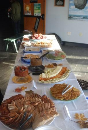 food table ready