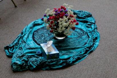 center cloth, Burlington Book Festival 9-14