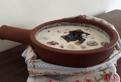 Roasted Potatoes in Yoghurt Gravy via WritingInTheKitchen.com - @WritingInTheKitchen