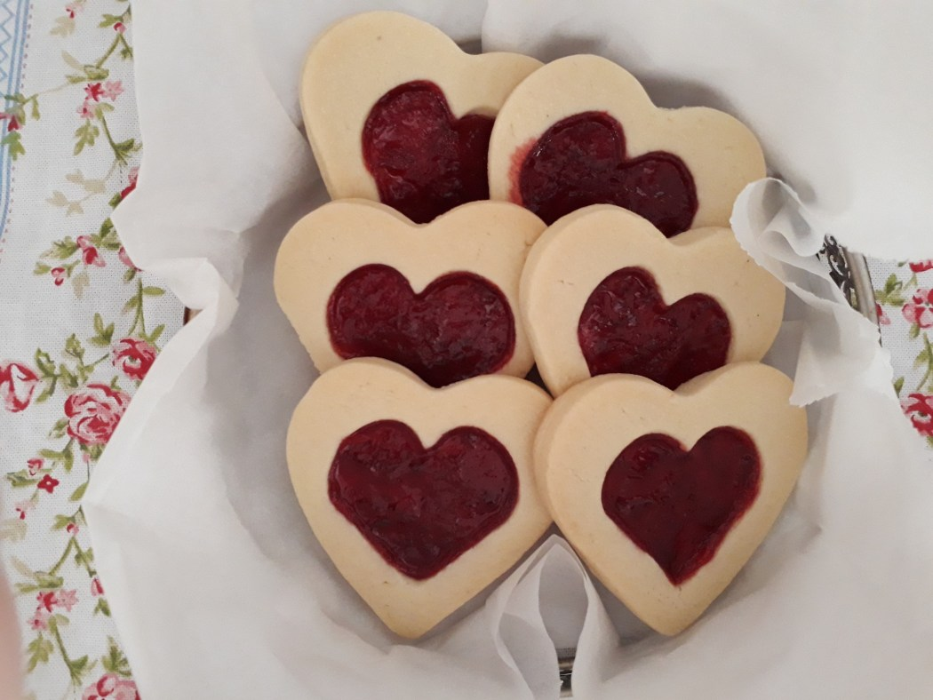 Heart Shaped Valentine S Day Biscuits Writing In The Kitchen