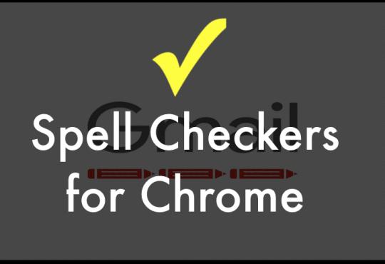 Chrome spell Checker