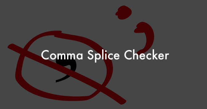 fixing Comma Splice