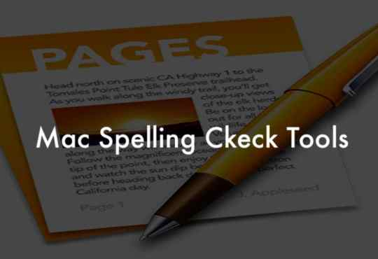 Mac spelling check tools