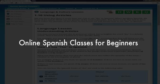 Online Spanish Classes for Beginners