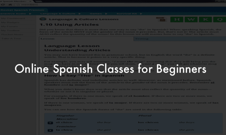 Online Spanish Classes for Beginners