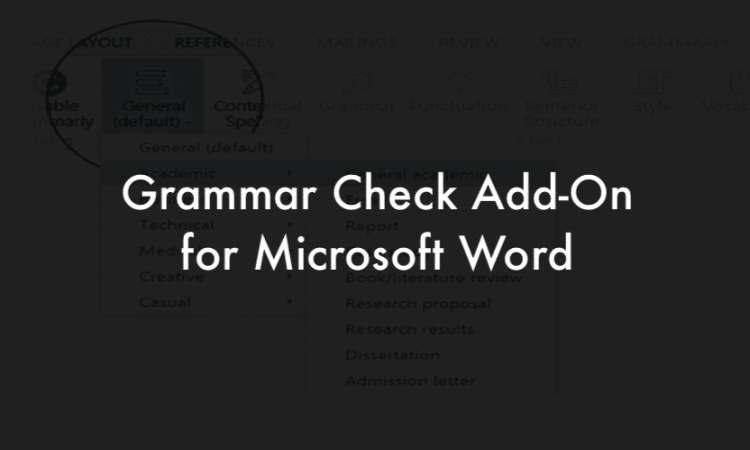 Word Grammar check add-On