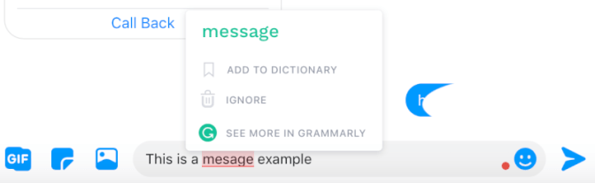 how to turn on spell check in messenger