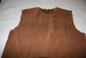 Vest with Raw Edges