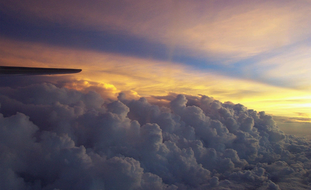 A Sunset View of Hurricane Isidore's Rain Bands, NOAA, 2002