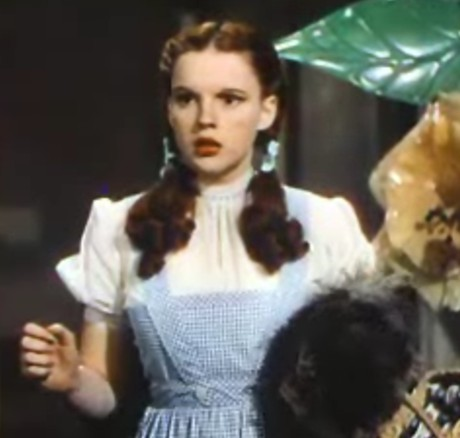 Judy Garland, as Dorothy, in the 1939 film The Wizard of Oz