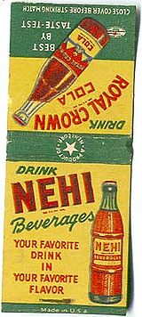 Nehi advertisement on a matchcover