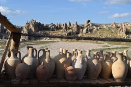 We found a potter's studio, nestled right behind a ranch.