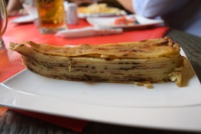 This is a traditional dish of layered dough called flija.