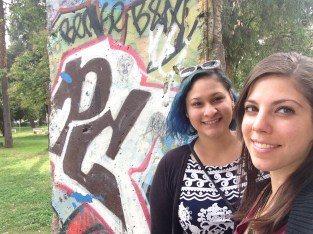 A piece of the Berlin Wall can be found in one of the local parks.