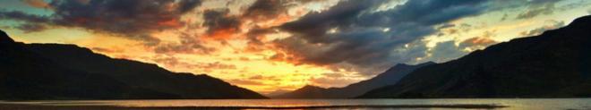 Sunset at Loch Hourne