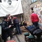 Setting up in Joe Lees bar in Tullamore