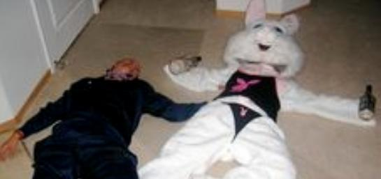 Willie Rimes wakes up beside the Easter Bunny