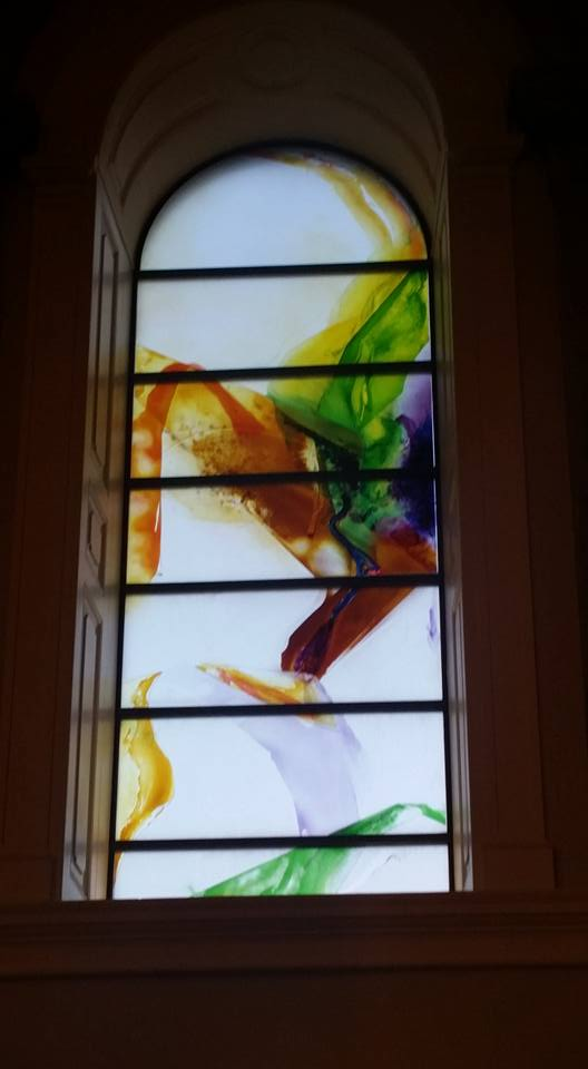 Windows in Saint Mels Cathederal in Longford
