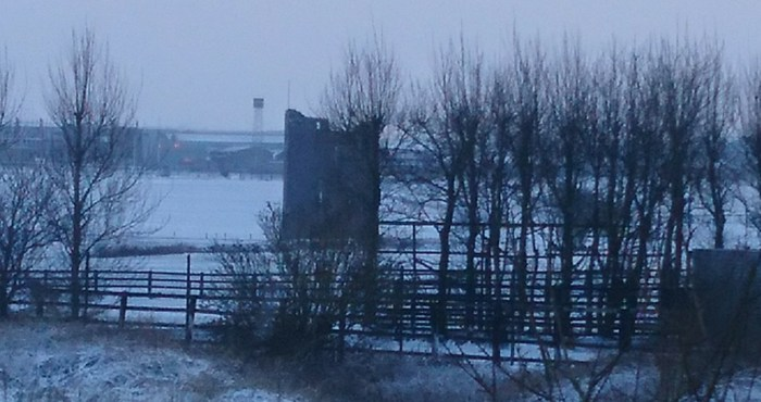 Ballybrit Castle in the Snow in Galway in February 2018