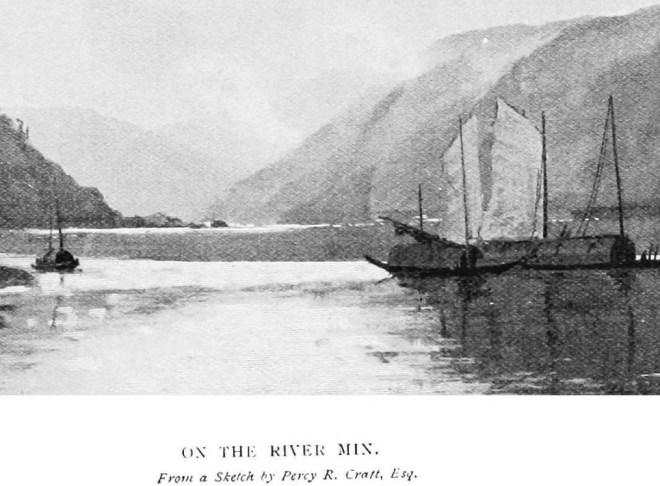 The River Min - Sketch of Percy R Cratt