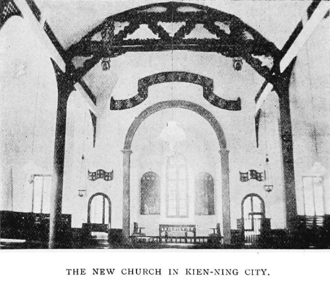 The new church in the city of Kien Ning