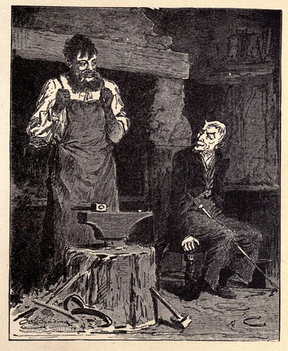 The Blacksmith and the Devil is a common folk story in Europe, in North Longford it was attributed to a local blacksmith as the hero of the tale.