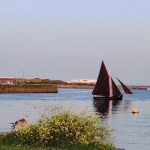Galway Hooker at the mouth of the River Corrib