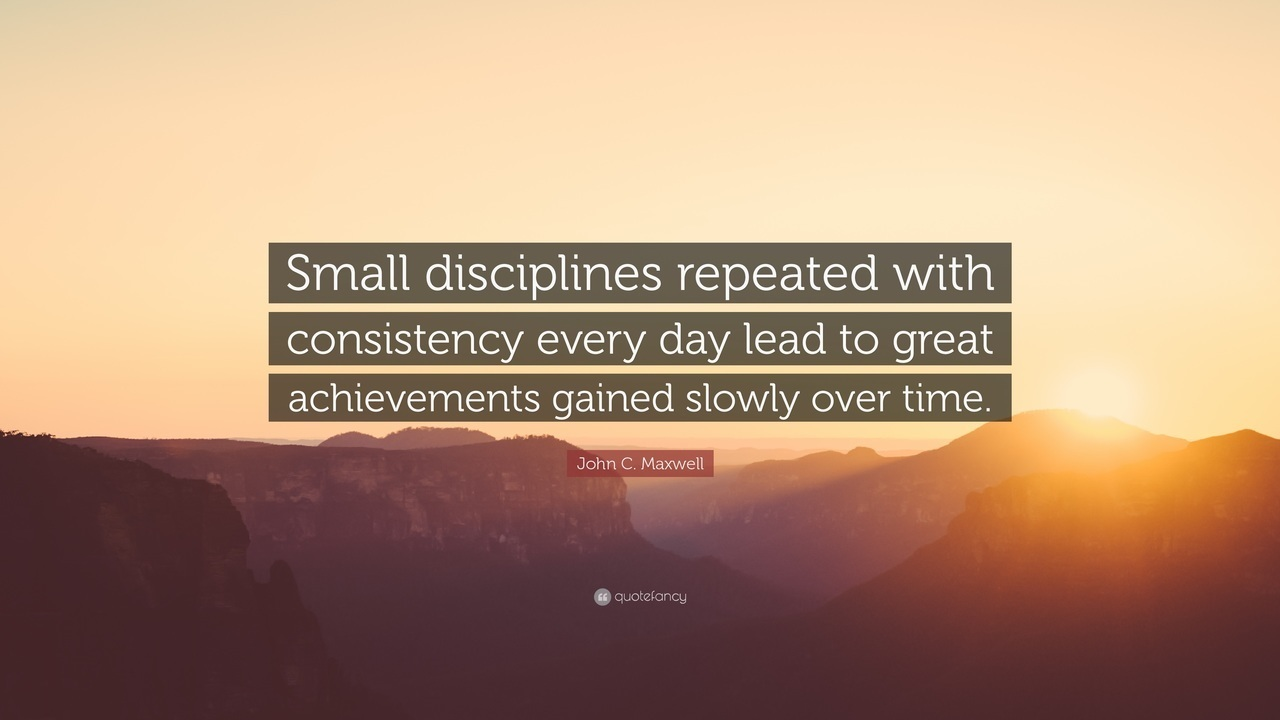 Consistency shouldn't be over the top