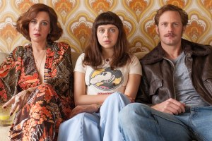 Kristen Wiig as Charlotte Goetze, Bel Powley as Minnie Goetze and Alexander Skarsgard as Monroe - Photo Credit: Sony Pictures Classics