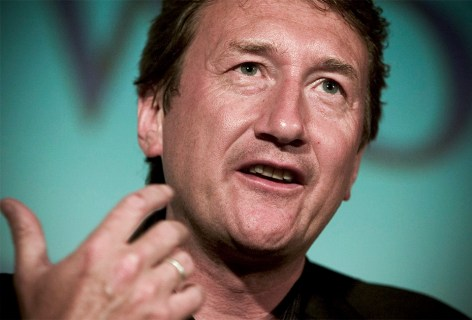 """20 Feb 2004, Los Angeles, California, USA --- Screenwriter Steven Knight (""""Dirty Pretty Things"""") at """"Beyond Words: The Writers Talk"""" panel discussion held by the Writers Guild of America. --- Image by © Ted Soqui/Corbis"""